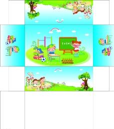 学生卡通纸巾盒设计图片