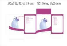 蒸脸器包装盒平面图图片