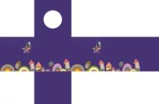 可爱 卡通 矢量 紫色 抽奖箱图片