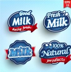牛奶标签图片
