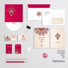 粉红色VI设计图片