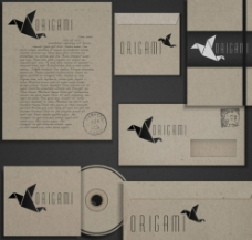 黑色纸飞机VI设计图片