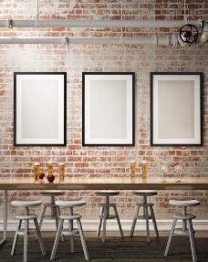 室内空白画框图片