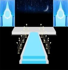 婚礼效果图仪式区蓝色