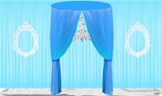 婚礼效果图迎宾区蓝色