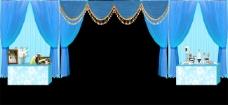 婚礼效果图甜品区蓝色