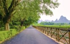公园景区道路图片