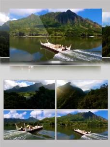 4K夏威夷海边实拍轮船美女景点宣传