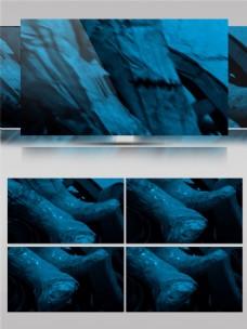蓝色星际沙漠视频素材
