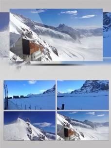 冬季旅游风光实拍雪景视频