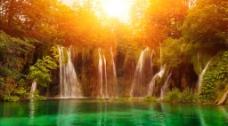 水塘风景视频素材