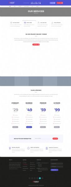 企业购物商城网站模板之服务介绍