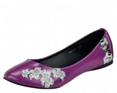紫色花纹舞鞋png元素