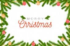 圣诞树背景白色背景