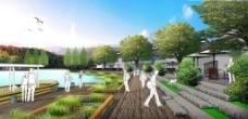 滨水码头景观效果图图片