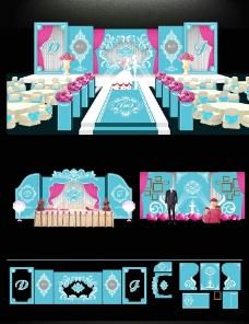 婚礼主题背板图片