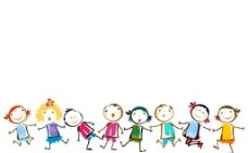 彩绘儿童插画设计矢量素材图片