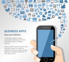 创意商务应用程序插画矢量图图片