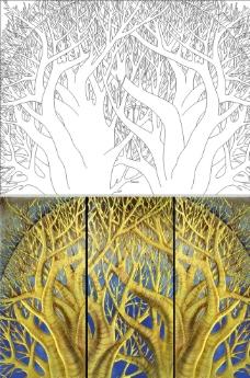 带圈的大树图片