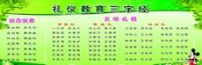教育礼仪三字经图片