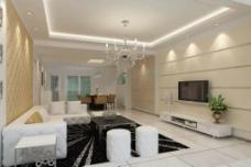 现代风格起居室图片