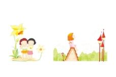 矢量情景插画快乐好朋友图片