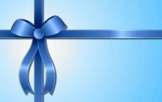 蓝色蝴蝶结背景图片