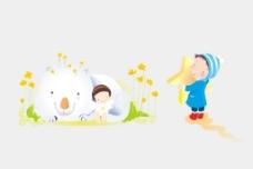 矢量情景插画快乐孩子图片