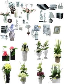 分层家具摆件素材图片