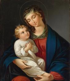 圣母与圣婴图片