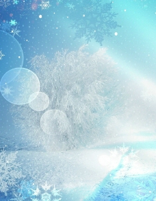 冬季梦幻雪花背景图片