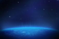 光束 深蓝色地球图片