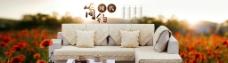 淘宝中式沙发促销广告图图片