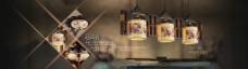 中国风淘宝陶瓷灯具促销海报图片