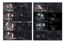 高仿唐龙手绘孕妇照手绘线形素材图片