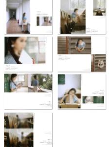小清新写真相册模版图片