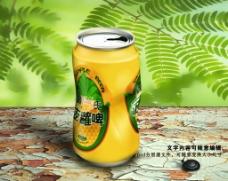 经典广氏菠萝啤酒罐味道psd源图片