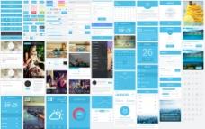 国外蓝色风UI界面图片