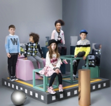 外国儿童模特图片