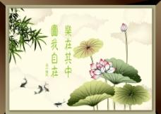 传统荷花背景图片