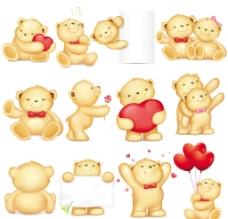 浪漫可爱小熊图片