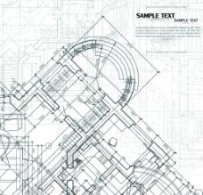 创意的建筑蓝图的背景矢量图片
