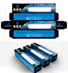 LED灯管包装设计图片