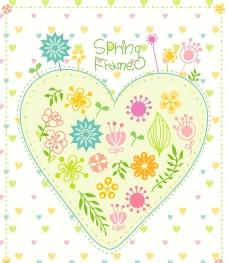 心形 花朵 卡通 彩绘图片