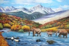 油画风景图片