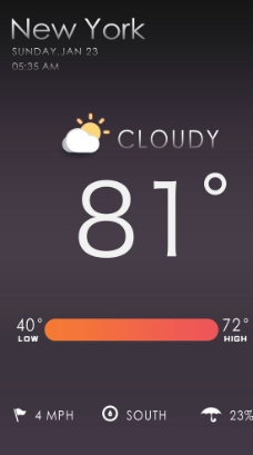 天气APP软件界面设计图片