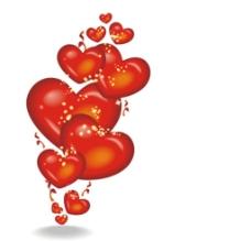 情人节浪漫心形气球素材图片