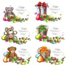 可爱小熊礼物背景图片