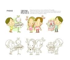 情人节手绘卡通情侣图片