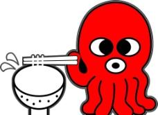 章鱼面标志图片
